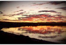 Panoramica de la segunda laguna en Caleta Olivia - Humedal