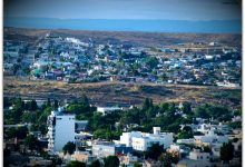 Caleta Olivia, vista desde el sur de la ciudad. 2014 02 11 07