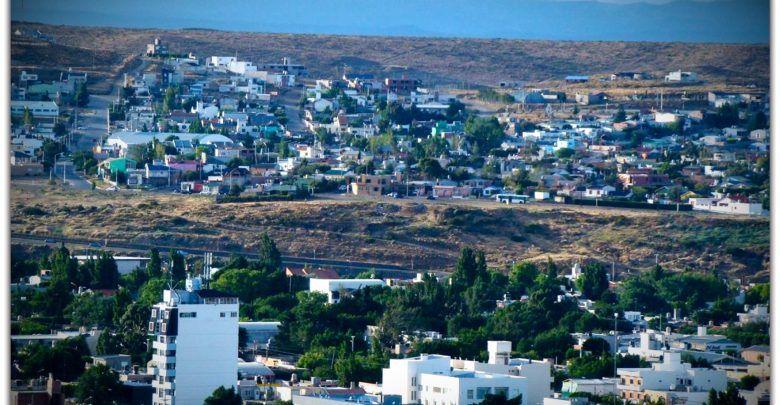 Caleta Olivia, vista desde el sur de la ciudad.